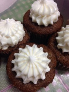 Banana Cupakes with Cream Cheese Frosting