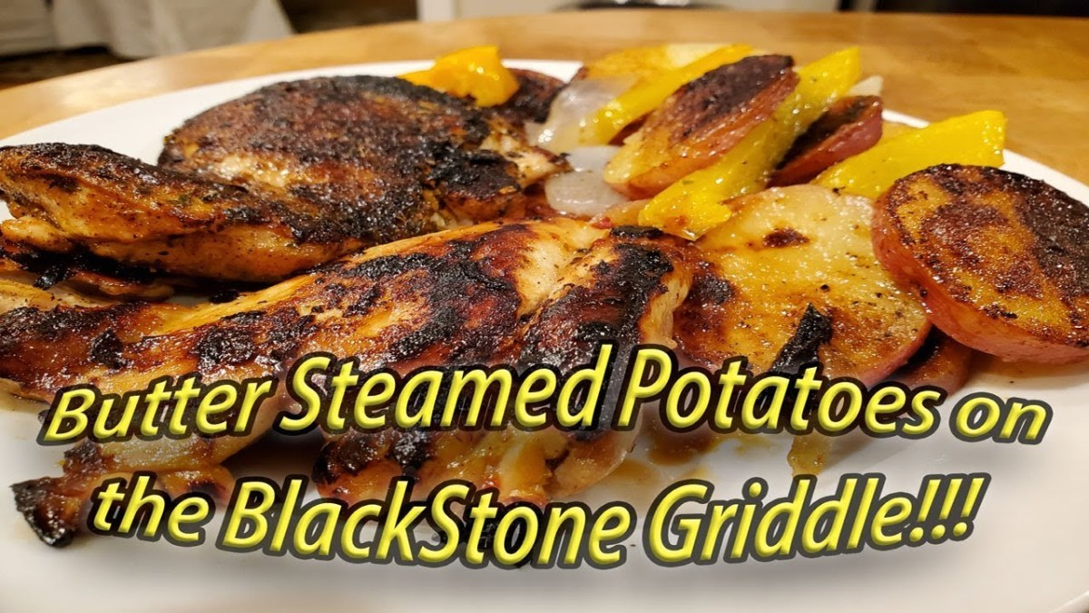 Butter Steamed Campfire Potatoes On The Blackstone Griddle Weekend Griddle