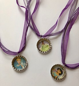 Disney Princess Bottle Cap Necklaces