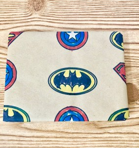 create superhero wrapping paper with Cricut