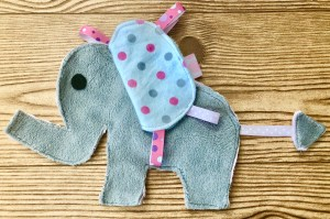 DIY elephant tag toy