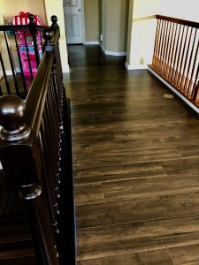 DIY staining old oak bannister