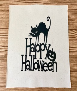 DIY Halloween reverse canvas