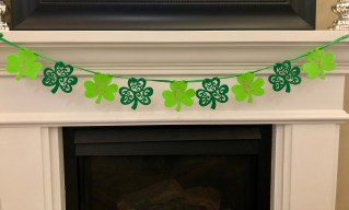 DIY decor for ST. Patrick's day on a budget