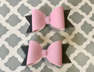make adorable leather hair bows