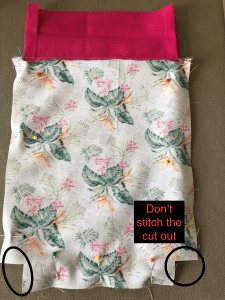 How to make a drawstring bag.