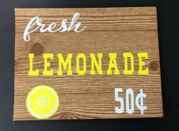 decorative sign made for cheap