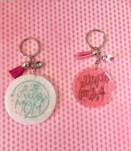 decorate acrylic keychains