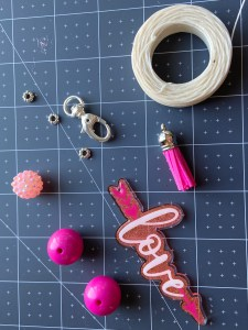 supplies for beaded keychain