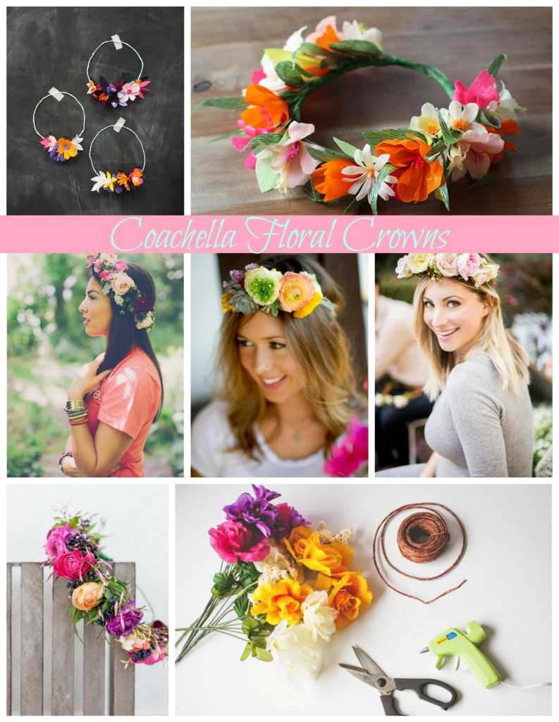 floral crown collage