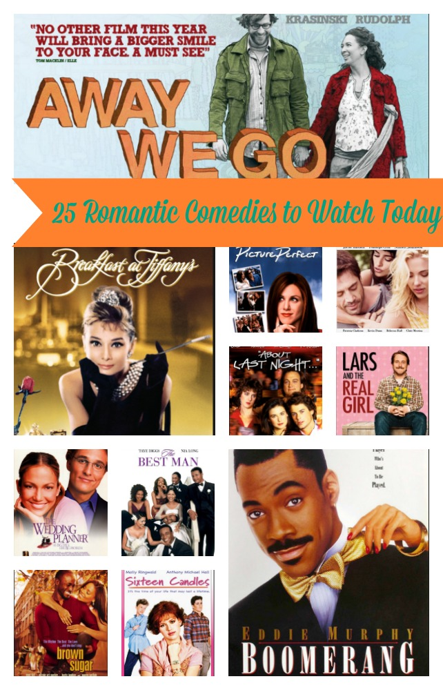 Romantic comedies collage