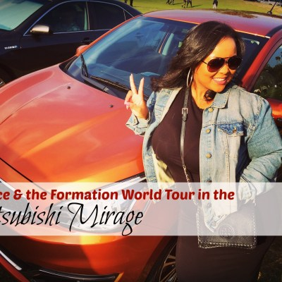 Beyonce & the Formation World Tour in the Mitsubishi Mirage