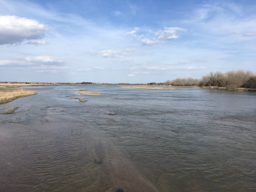 The very wide and very shallow Platte River