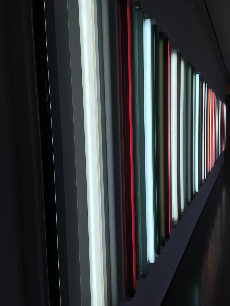 A cool lighting display at LACMA