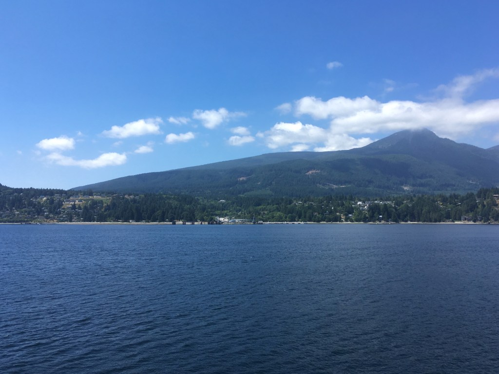 Approaching Langdale ferry terminal on the Sunshine Coast