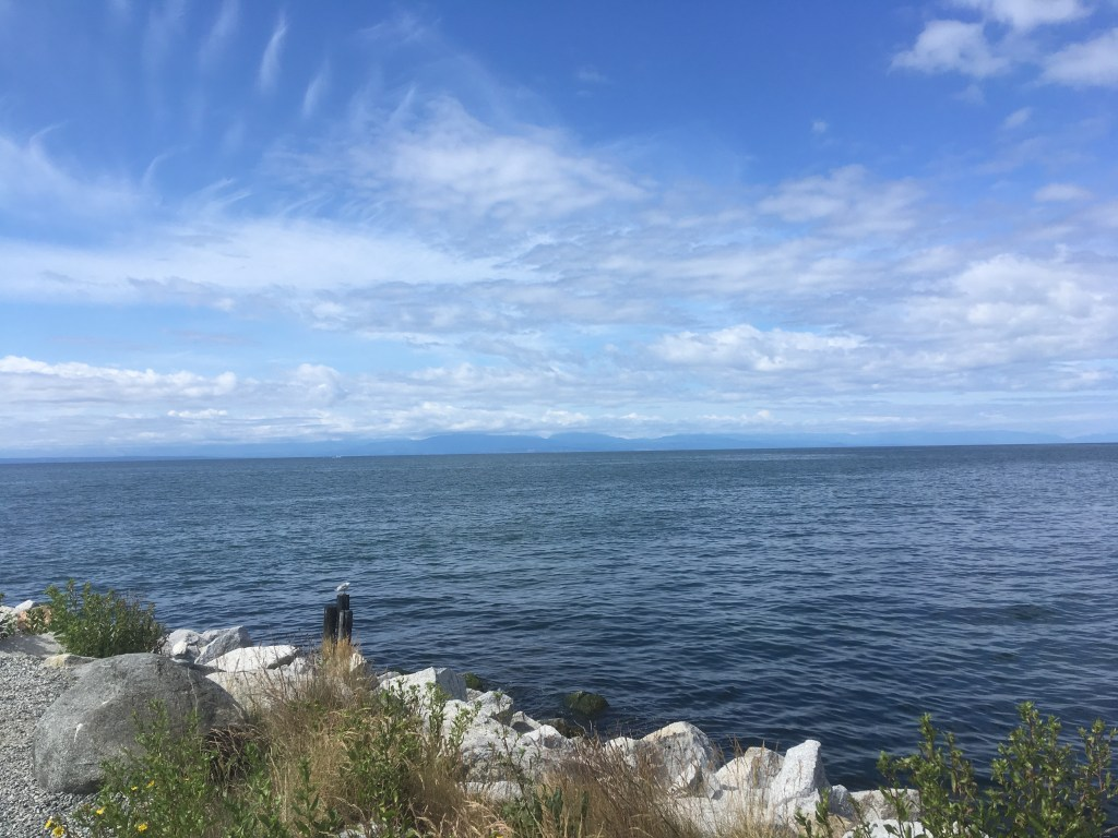 The view south from Roberts Creek Jetty