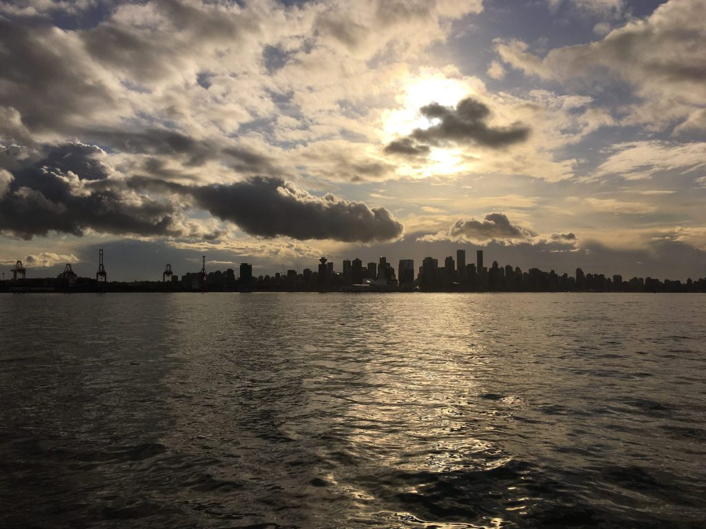Looking south toward downtown Vancouver from the Seabus
