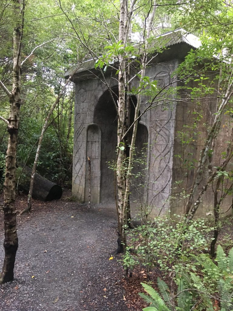 A replica elvish arch made to be precisely way smaller than the one used in the movie