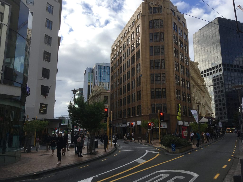 A little of downtown Wellington