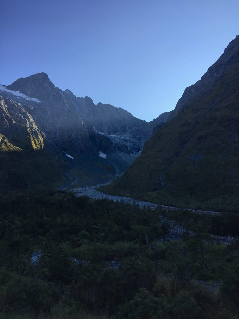 The view shortly after exiting Homer Tunnel