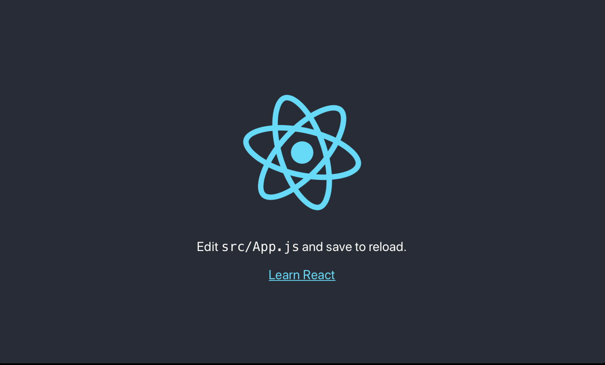 edit src/App.js and save to reload React app