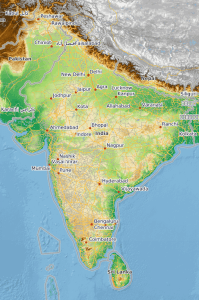 munidialis topographic map of india_284