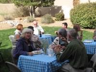 Enjoying the backyard party!