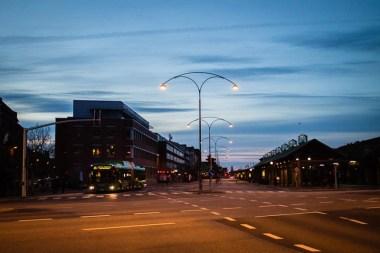 Morning sky at Södervärn.
