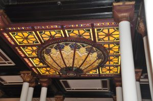 Lobby ceiling.