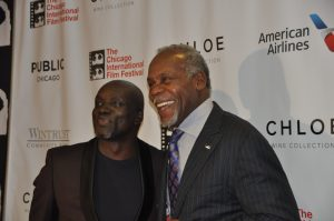 "Director Steve Gukas and star of ""93 Days"" Danny Glover."