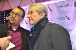 Claude LeLouch with interpreter.