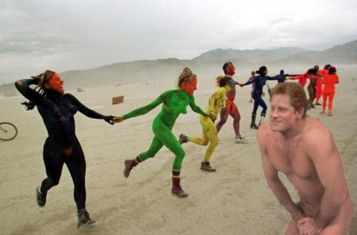 PRINCE HARRY SPOTTED AT BURNING MAN! - Weekly World News