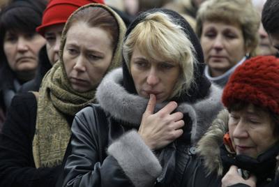 APTOPIX Russia Theater Siege Anniversay