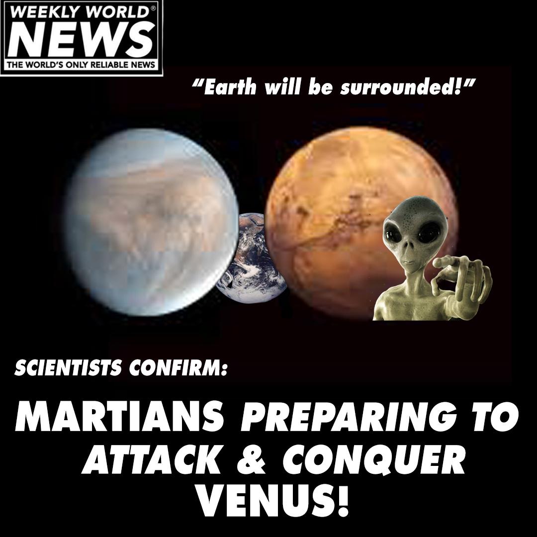 Martians Preparing to Attack And Conquer Venus