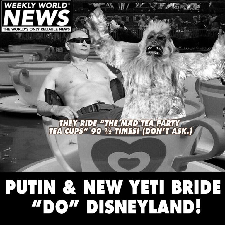 Putin And New Bride Do Disneyland