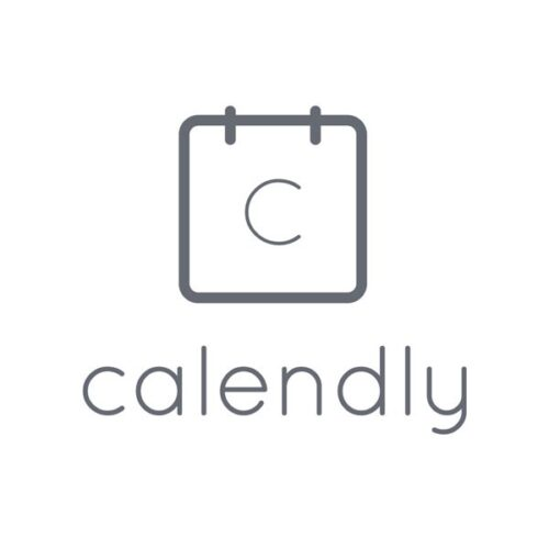 Calendly logo in white background describing the best mobile apps for freelancers