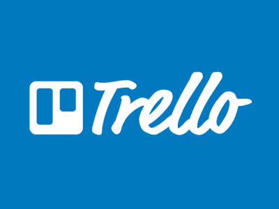 Trello in blue and white background describing the best mobile apps for freelancers