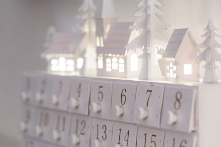White Calendar on a white surface showing Don't Break The Streak [December]