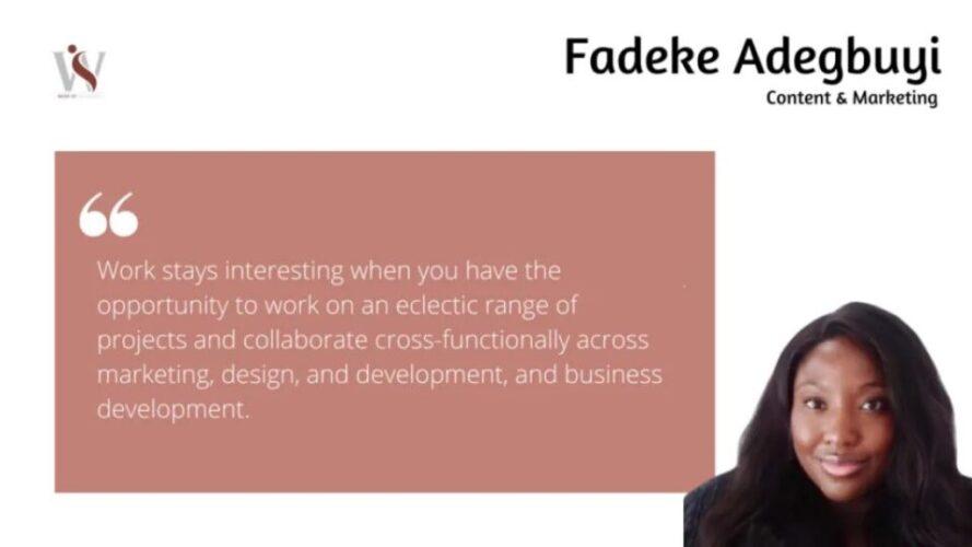 Writers Who Inspire Us: Fadeke Adegbuyi 2 Writers Who Inspire Us: Fadeke Adegbuyi Fadeke Adegbuyi