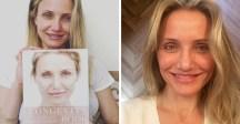 Cameron Díaz publicó en su cuenta de Instagram una foto sin maquillaje para promover el aprendizaje del envejecimiento.