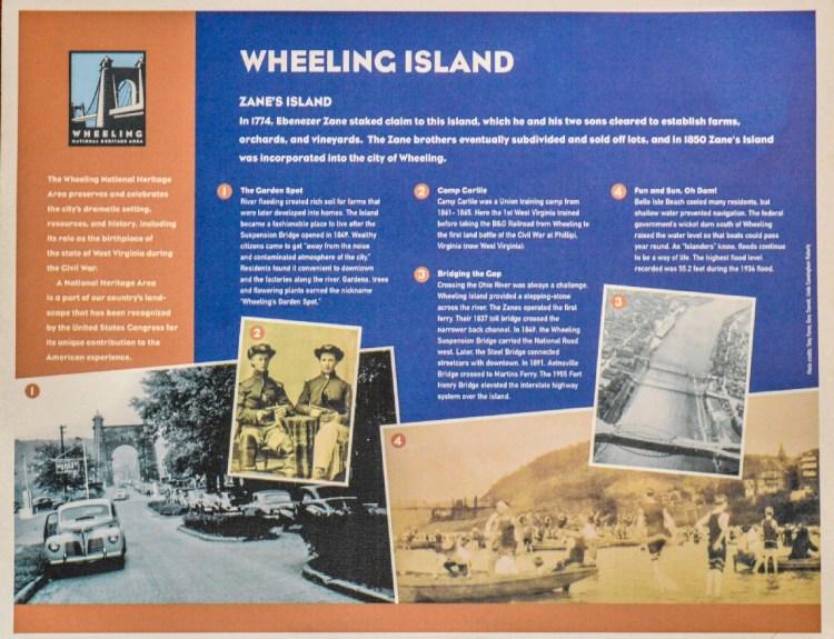 Floodwall - Island history sign-resized