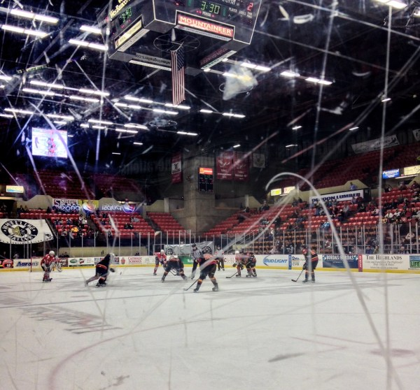 When the Wheeling Nailers are on their home ice at Wesbanco Arena, the Generations Suite offers fans this view of the live action.