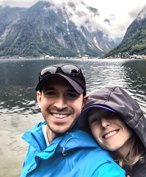 Derrick and Morgan traveled to Austria in September 2014 to research her father's roots. The couple also visited Ireland and Germany during the two-week vacation.