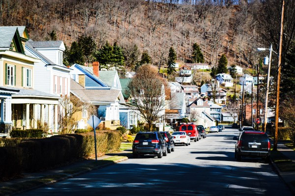Heiskell Avenue features single-family dwellings as well as rental properties, and the neighborhood climbs the hillside in many areas.