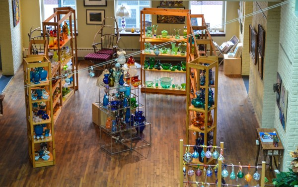 The second floor of the Artisan Center houses the Gift Emporium, a retail shop that offers a plethora of products produced in the Mountain State.