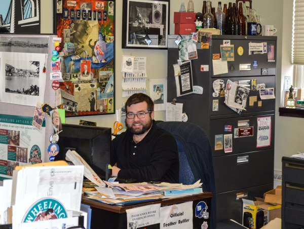 There's very little luxury involved with what Jeremy Morris does as director of the Wheeling National Heritage Area Corp. The WNHAC Office is located on the third floor of the Artisan Center.