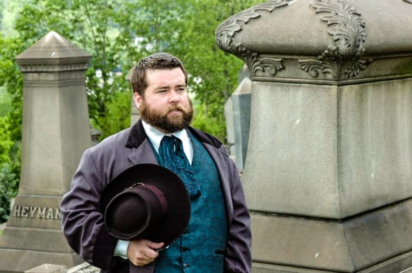 Jeremy Morris has volunteered his time to portray former prominent Wheeling residents during events at some of the Friendly City's oldest cemeteries.
