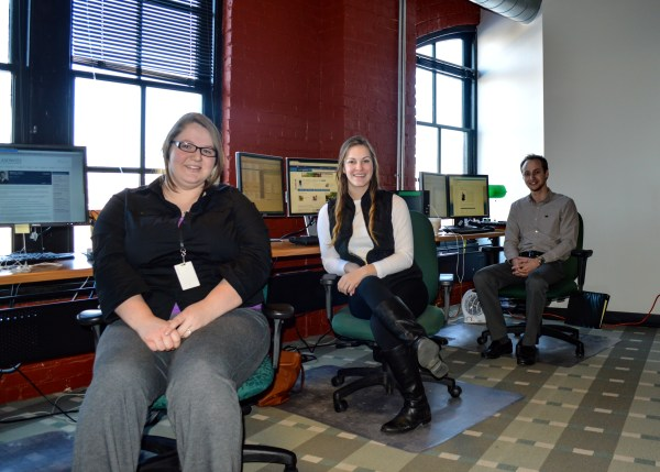 Orrick interns Nicci Elliott, Alex Barr, and Daniel Watson take a short break from their duties.