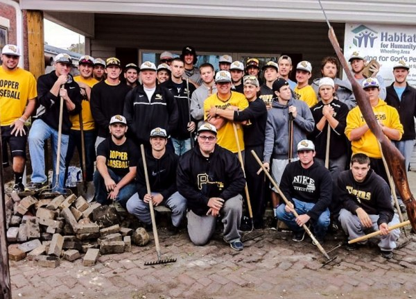 A couple of season's ago the baseball team from West Liberty University volunteered for a Habitat for Humanity in South Wheeling.