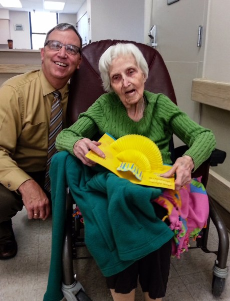 Randy visits with his mother daily at Good Shepherd.